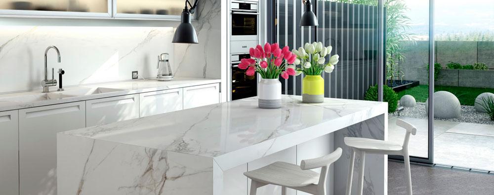 cocinas modernas con estilo azulejos y encimeras ceramicas