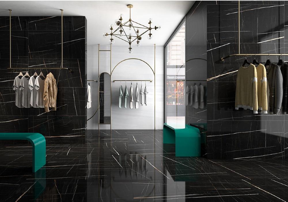 sahara azulejo marmol negro pulido lujo