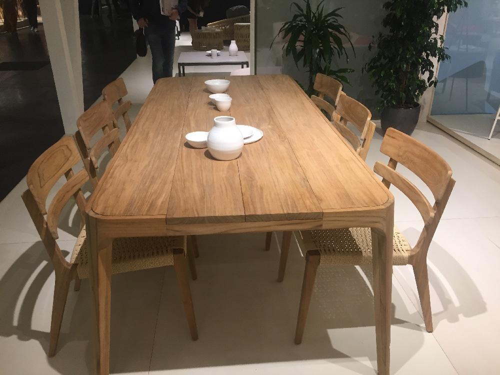 mesas rusticas con sillas de boga en habita mueble valencia