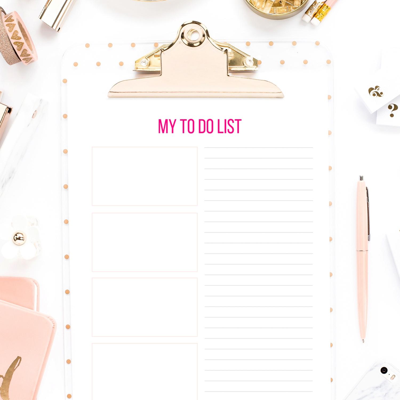 To Do List Printable Decor Adventures