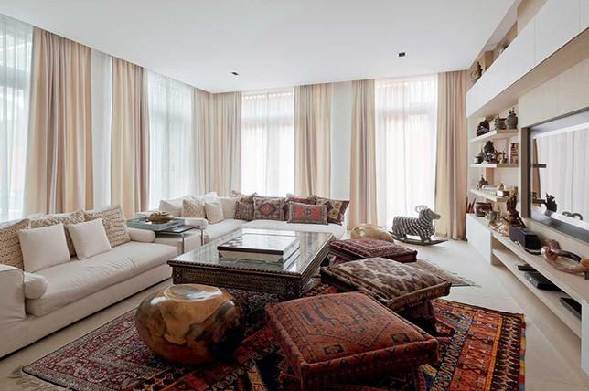 bohem tarzı iç tasarım tekstil