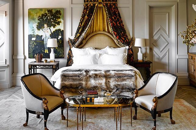 традиционный стиль спальни украшения идеи