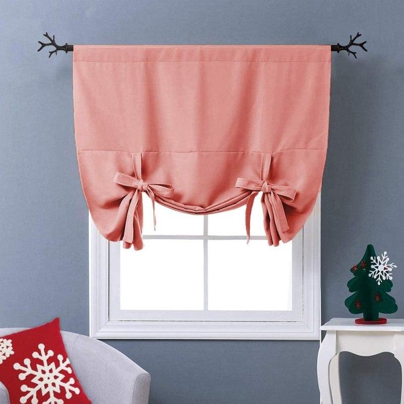 bright curtain with baloon drape