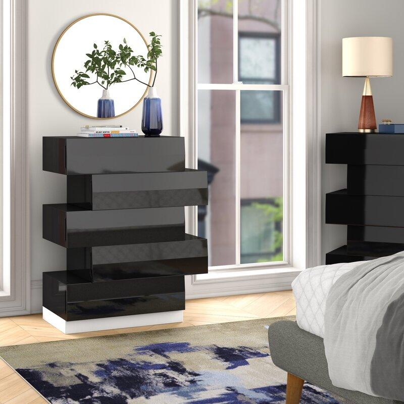 asymmetrical dresser design