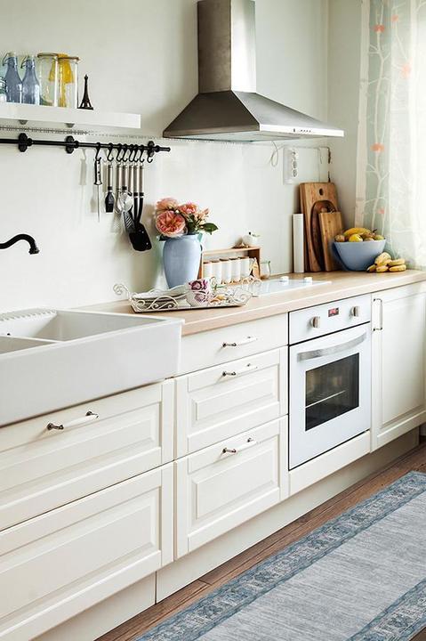 blue kitchen rug