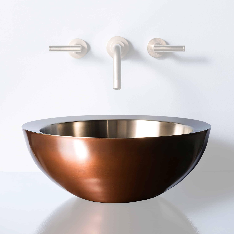 stone forest copper stainless vessel sink decora loft