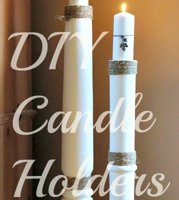 DIY Floor Candle Holders