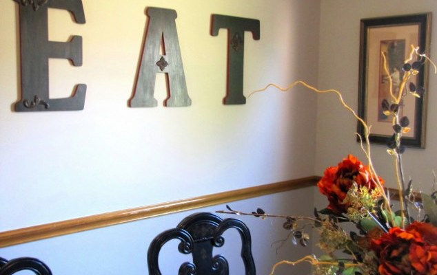 DIY EAT Dining Room Sign