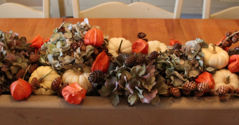 Fall box centerpiece