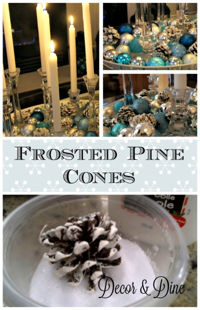 DIY Frosted Pinecones