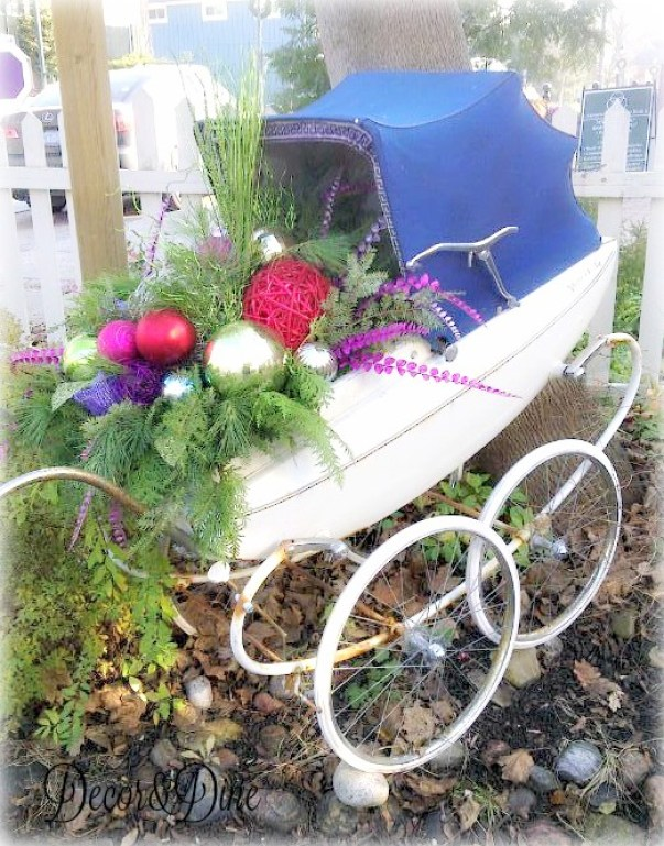 Carriage planter by Grand Entrance Design