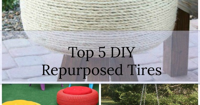 DIY Repurposed Old Tires