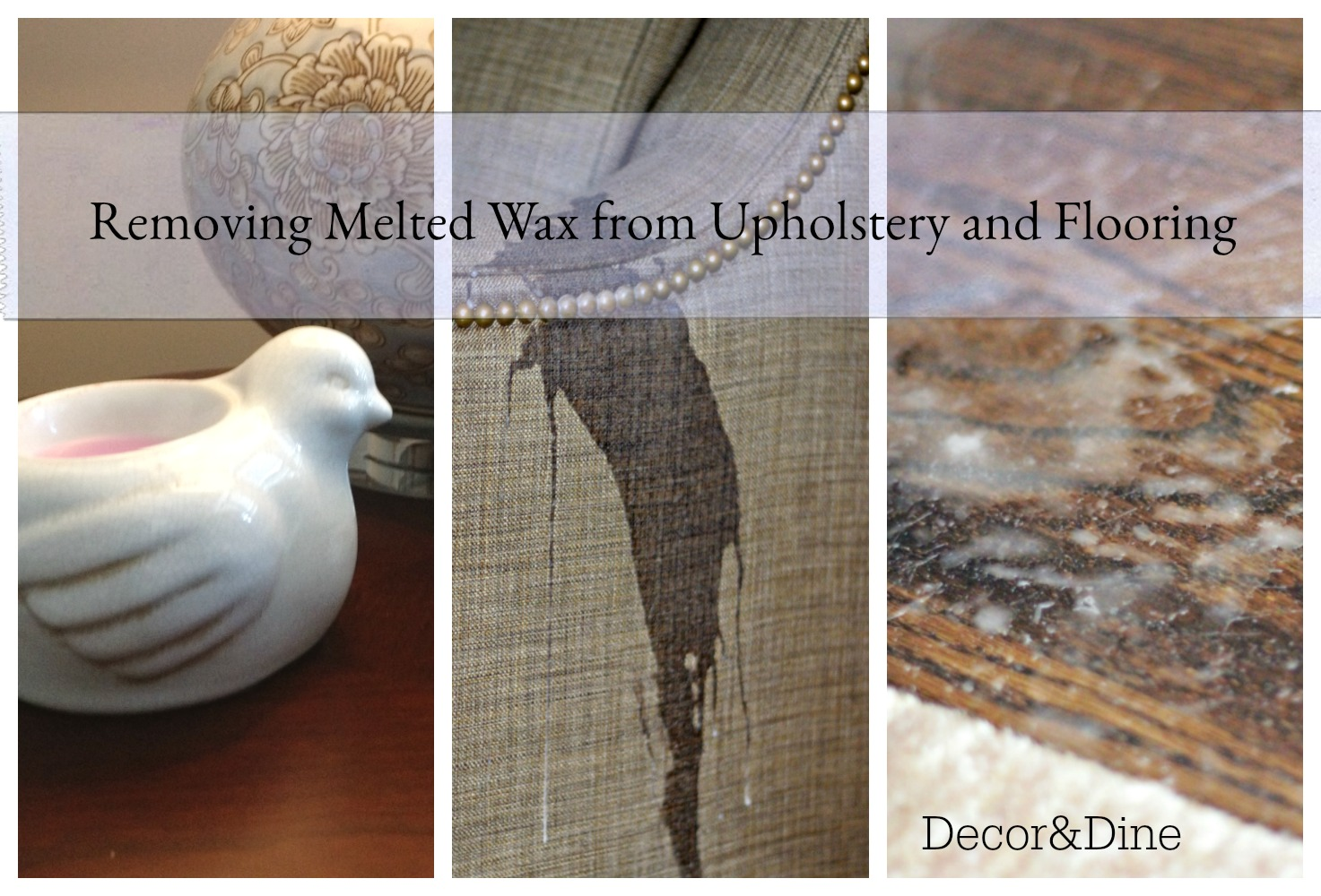 How to Remove Wax from Upholstery photo
