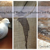 Removing Melted Wax from furniture