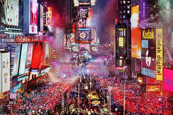 new year celebrations.times square new york