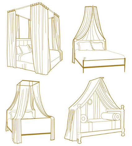 C mo hacer un pabell n para cama decorando el hogar - Cama con techo de tela ...