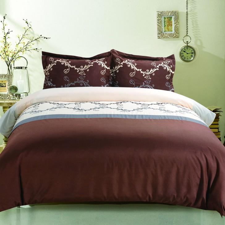 3 piece dark brown duvet cover set queen dk lj017