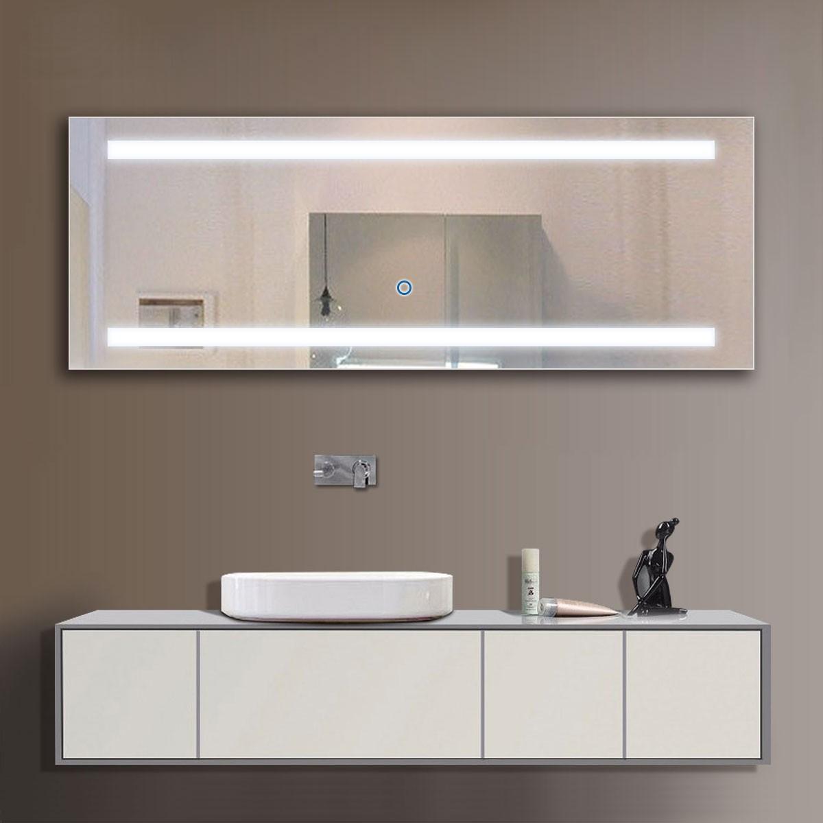 65 X 24 Po Miroir LED Salle De Bain Avec LInterrupteur