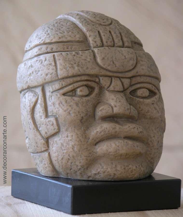 Decorar Con Arte Olmec Head 12 X 10 X 10 Cm