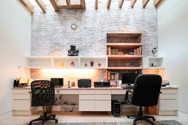Oficinas Con Pared De Ladrillo Visto Ideas Y Fotos
