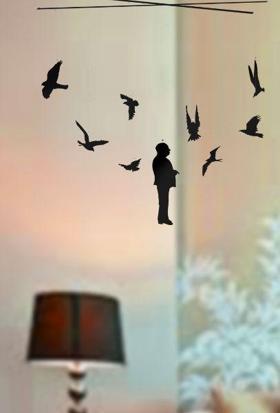 Móvil de los pájaros