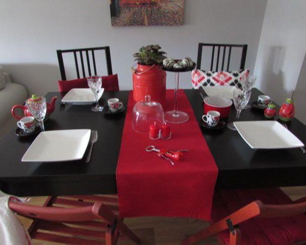 Una mesa de Navidad sencilla