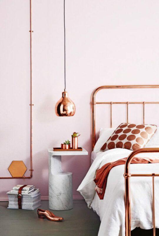 Cómo integrar el cobre en la decoración