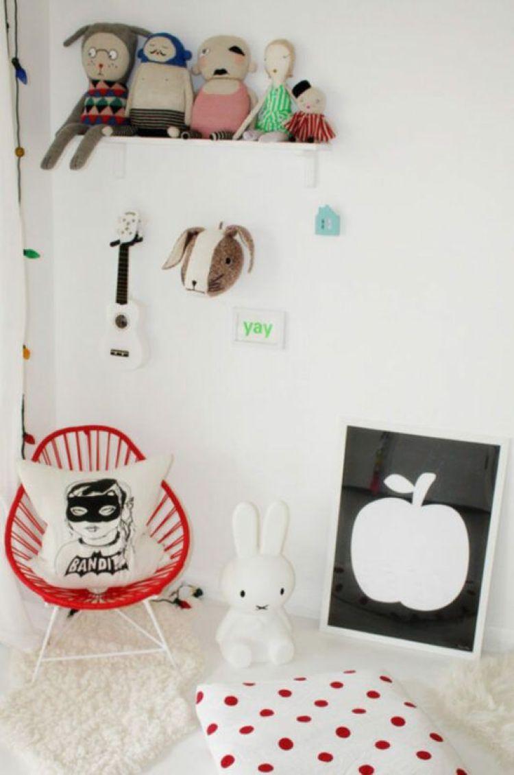 Detalle de habitación infantil compartida