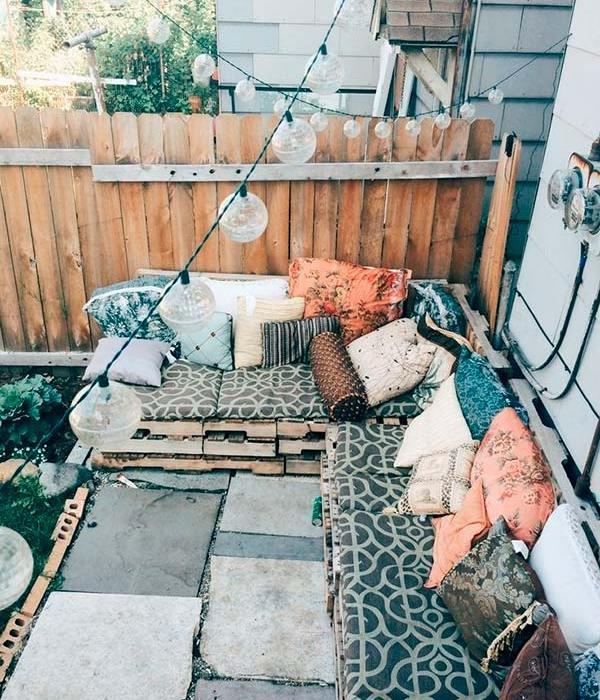 Inspiración para terrazas bohemias small & low cost