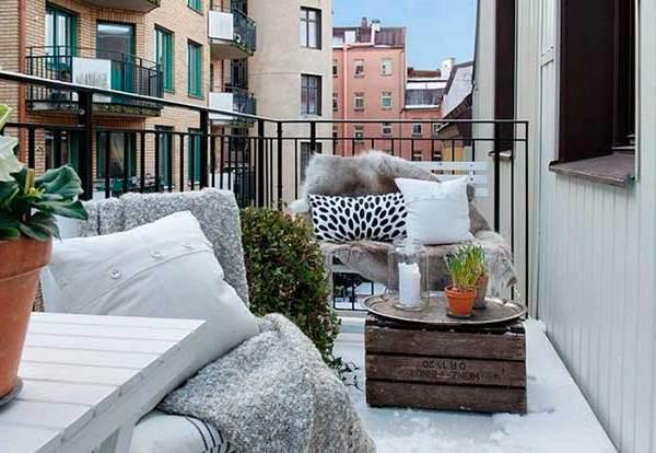 Trucos para decorar tu terraza en invierno