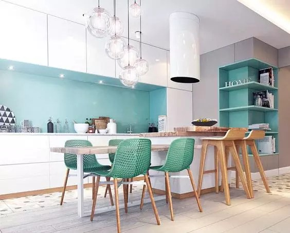 Ideas para decorar una cocina multicolor