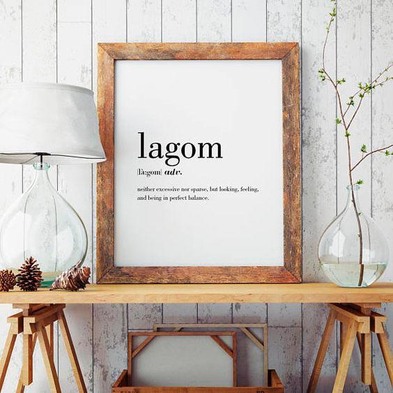 Lagom, ni mucho ni poco, la última tendencia sueca