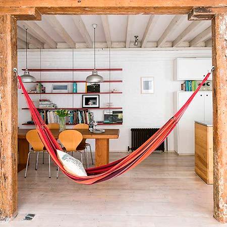 Hamacas de interior, relajarse dentro de casa es posible