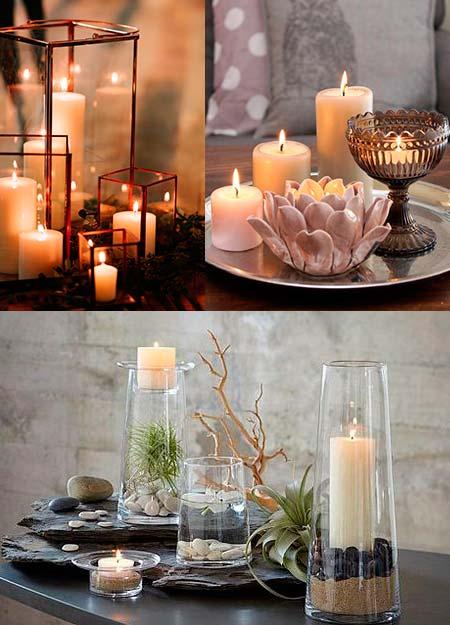 Ideas para decorar con velas. soportes y candelabros