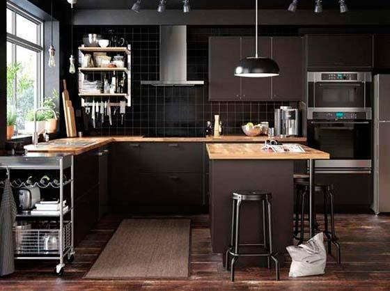 Cocinas negras, la nueva tendencia