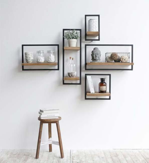 10 estanterías originales para decorar tus paredes