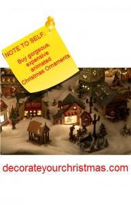 expensive tabletop Christmas decorations that are animated