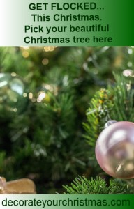 flocked artificial Christmas tree with no lights