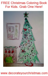 free Christmas coloring book and sheets for kids