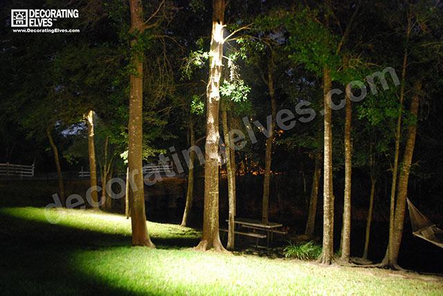 down lighting decorating elves