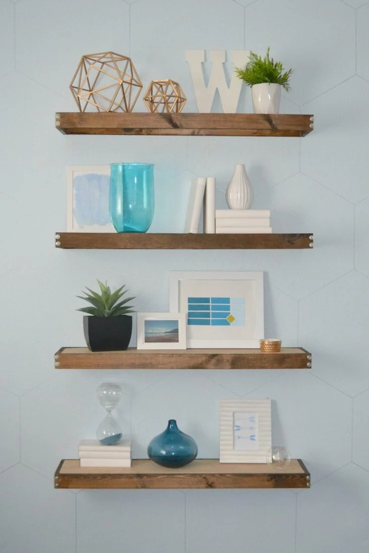 22 easy diy floating shelves | decorating your small space