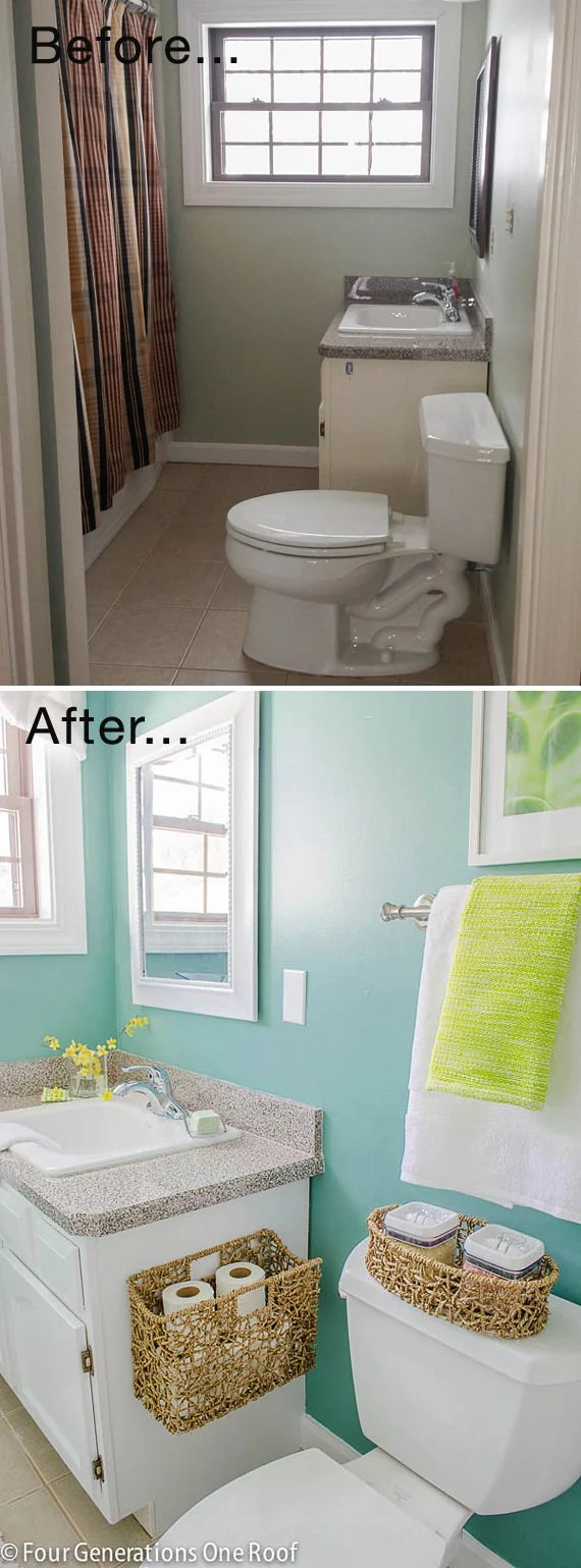 Small Bathroom Ideas & Makeovers   Decorating Your Small Space on Small Space Small Bathroom Ideas Pinterest id=41886