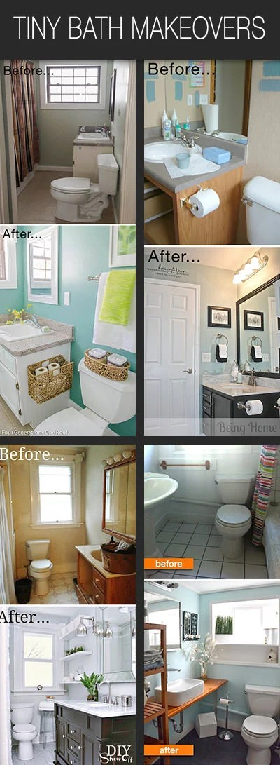 Small Bathroom Ideas & Makeovers   Decorating Your Small Space on Small Space Small Bathroom Ideas Pinterest id=77623