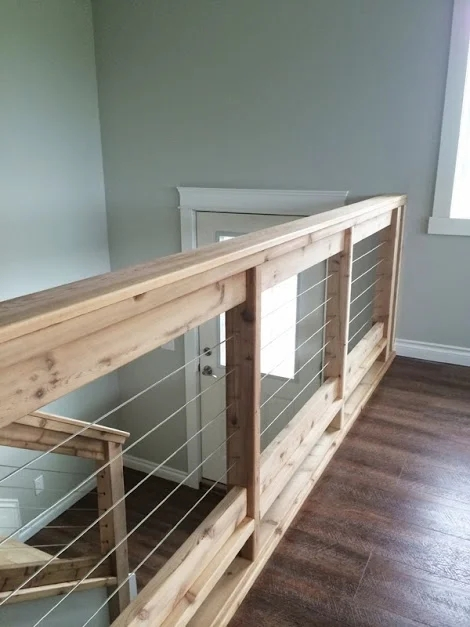 Diy Stair Railing Projects Makeovers Decorating Your | Cable Stair Railing Diy