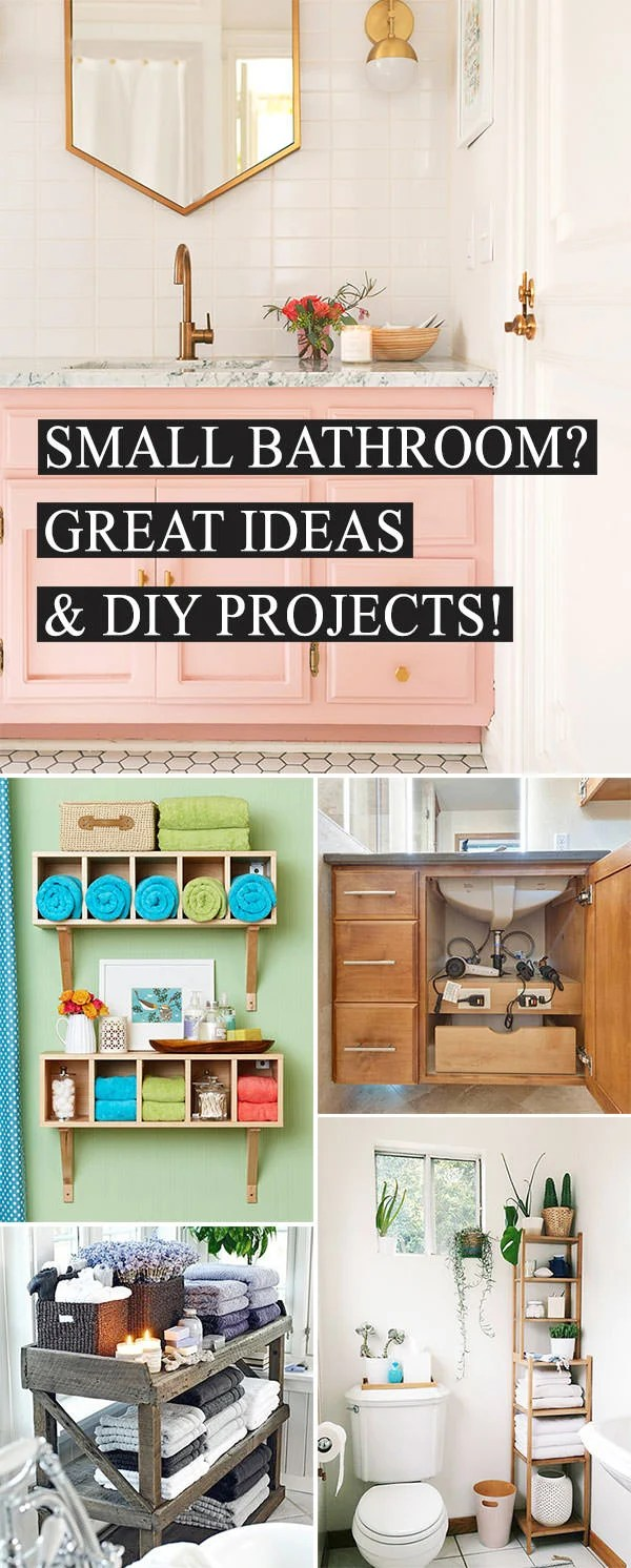 Small Bathroom Ideas & DIY Projects   Decorating Your ... on Small Space Small Bathroom Ideas Pinterest id=94477