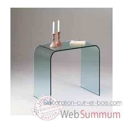 console marais ou bureau en verre bombe recuit conso