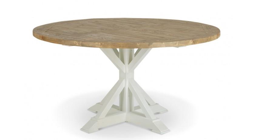 table ronde bois blanc cesure 150cm