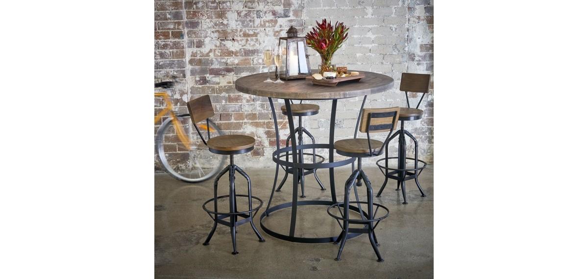 chaise haute tabouret bois fer forge 40