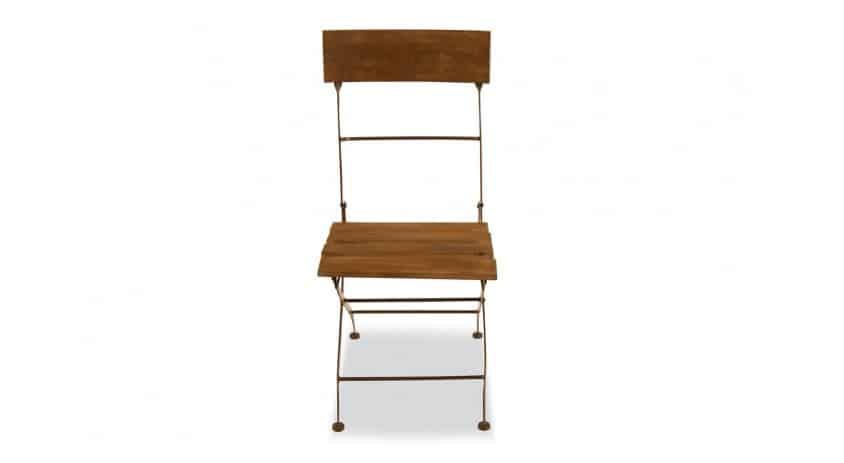chaise bois fer forge marron 40x50 5x93 5cm