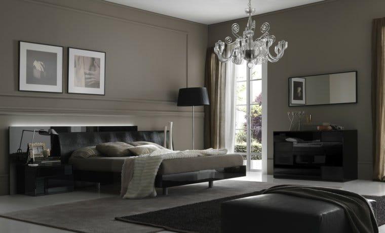 la couleur gris clair pour une chambre